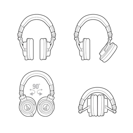 Audio-Technica ATH-M50x White